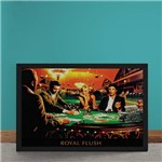 Quadro Decorativo Poker Royal Flush Marylin Monroe Elvis Presley James Dean Humphrey Bogart