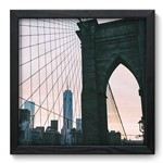 Quadro Decorativo Ponte do Brooklyn N6099 33cm X 33cm