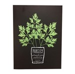 Quadro Decorativo Preto Parsley Herbs Urban