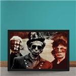Quadro Decorativo Rolling Stones Fantasias