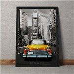 Quadro Decorativo Taxi Vintage Nova York