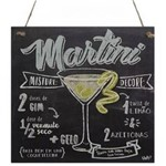 Quadro Decorativo Uatt Martini 18 X 18 Cm