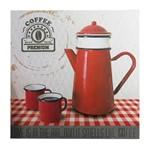 Quadro Decorativo Vermelho Teapot Urban