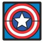 Quadro Faces Capitao America Marvel - 20x20