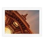 Quadro Foto Paris Torre Eiffel Sol Moldura Branca 22x32cm