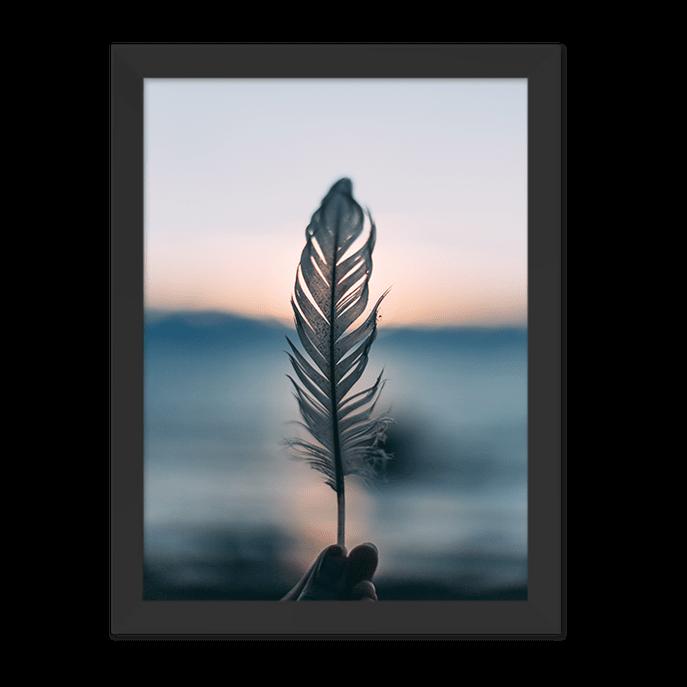 Quadro Foto Pena Moldura Preta Lisa 30x20cm-sv