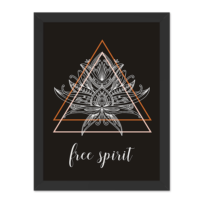 Quadro Free Spirit Moldura Preta Lisa 30x20cm-sv