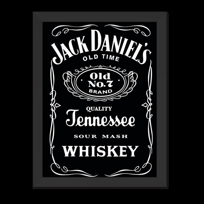 Quadro Jack Daniels Moldura Preta Lisa - 30x20 Cm-sv
