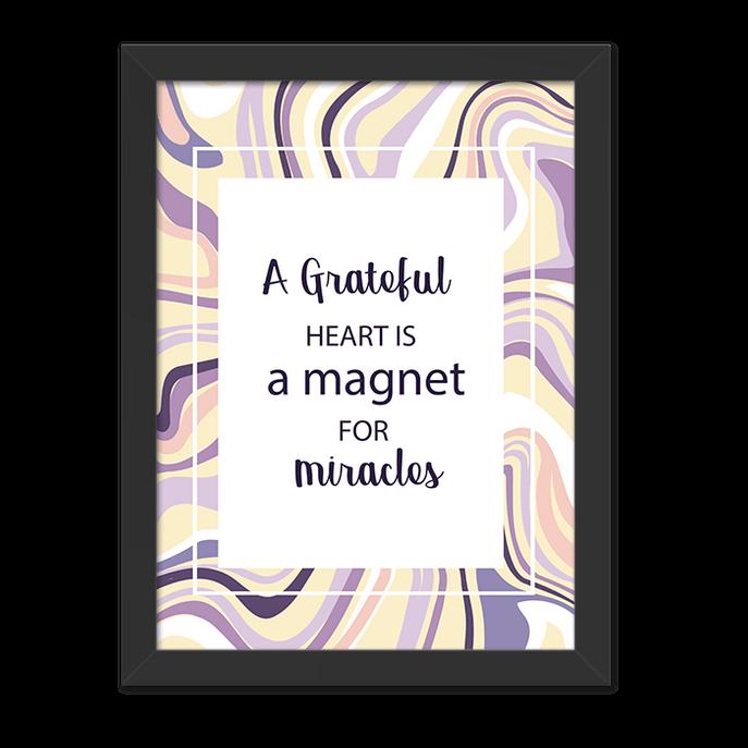 Quadro Magnet Moldura Preta Lisa 30x20cm-sv