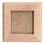 Quadro Moldura em MDF com Vidro 15x15x1,2cm - Palácio da Arte