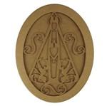 Quadro Moldura em MDF Oval Nossa Senhora Aparecida 35,5x27cm - Palácio da Arte