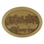 Quadro Moldura em MDF Oval Santa Ceia 35,5x27cm - Palácio da Arte