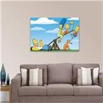 Quadro os Simpsons Fámilia Decorativo para Quarto Sala