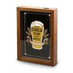 Quadro Pequeno Tampinha é Hora de Cerveja Gelada