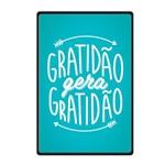 Quadro Placa Decorativa - Frases - Gratidão