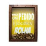 Quadro Porta Rolha Vinho Madeira Mdf Decoração 20x25cm - Atitude Mix