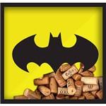 Quadro Porta-Rolhas Dc Batman Madeira e Vidro Amarelo/Preto - Urban