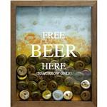 Quadro Porta Tampinhas de Cervejas Eqdd Addq 22x27x3cm Natural - Kapos
