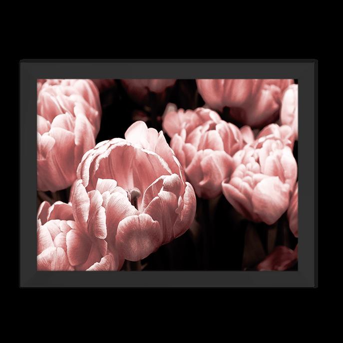 Quadro Primavera Rose Moldura Preta Lisa 30x20cm-sv