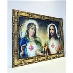Quadro Sagrado Coração de Jesus e Maria Parede Religioso para Sala