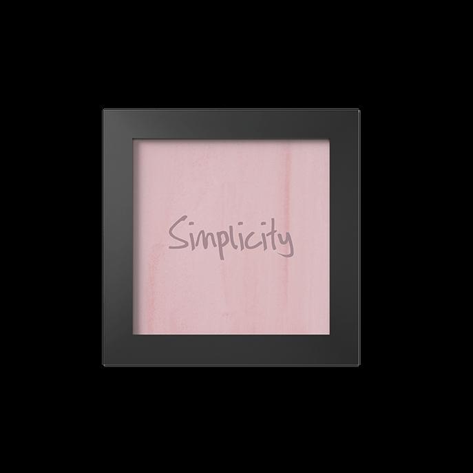 Quadro Simplicity Moldura Preta Lisa - 10X10cm-sv