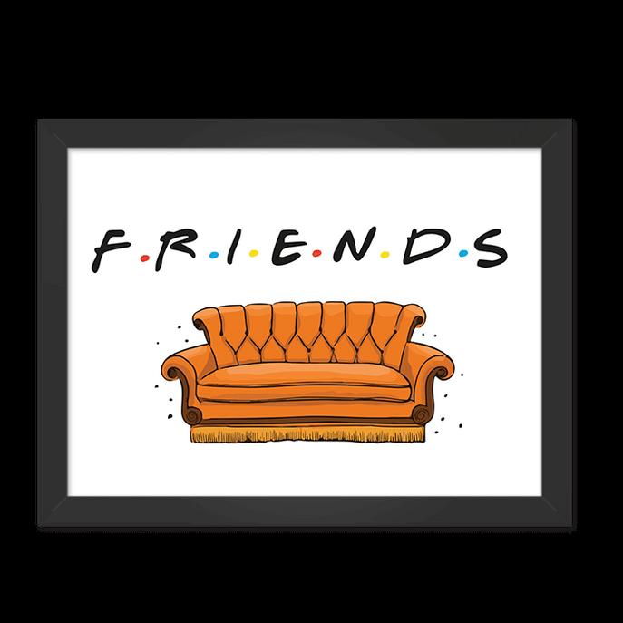 Quadro Sofá Friends Moldura Preta Lisa 30x20cm-sv