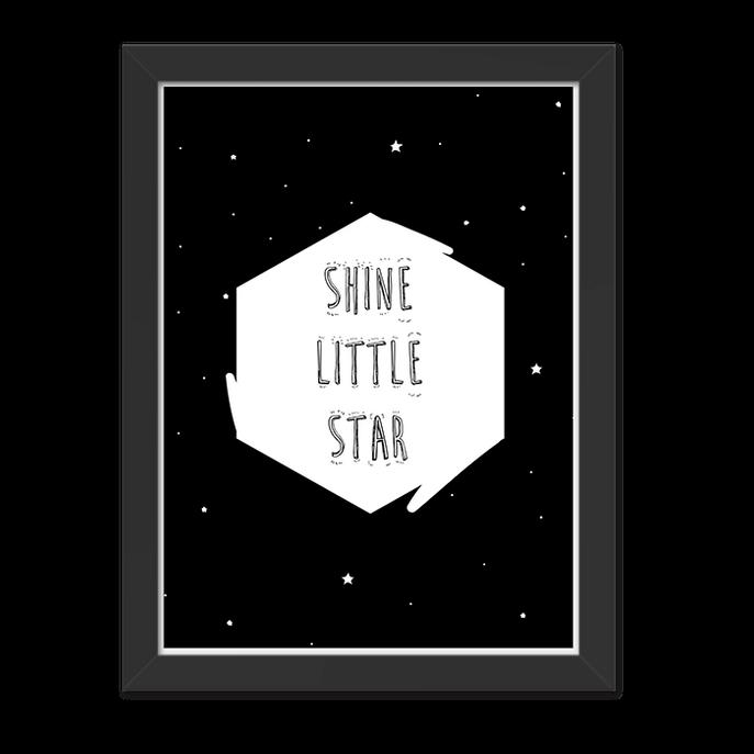 Quadro Star Moldura Preta Lisa - 30x20 Cm-sv