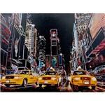 Quadro Tela Impressa com Leds New York 3 Táxis Amarelos 60x80x3cm - Fullway