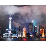 Quadro Tela Impressa com Leds Shanghai City 80x100x4cm - Fullway