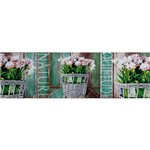 Quadro Tela Impressa Flores Quietude Nature 30x100x4cm - Fullway
