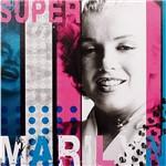 Quadro Tela Impressa Super Marylin 50x50x3cm - Fullway