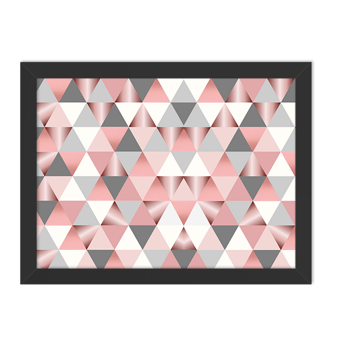 Quadro Triângulos Moldura Preta Lisa 30x20cm-sv
