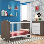 Quarto de Bebê Cômoda e Berço Ternura Malbec/branco - Pn Baby