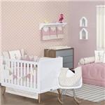 Quarto de Bebê Flamingo Rosê 17 Peças