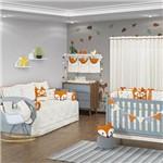 Quarto de Bebê Fox Palha e Laranja 27 Peças