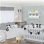 Quarto de Bebê Panda Preto 27 Peças