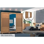 Quarto de Casal Completo Henn Cancun QC35 (Cabeceira Box+Cômoda+Guarda Roupa) - Cor Rústico