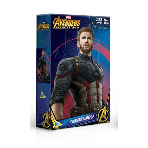 Quebra-cabeça 200 Peças Vingadores Capitão América