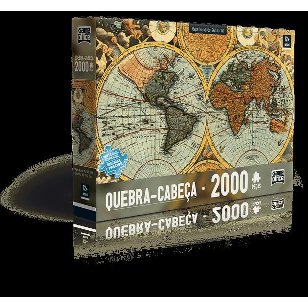 Quebra-cabeça 2000 Peças - Mapa Mundi do Século Xvii