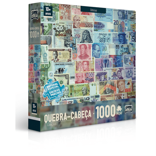 Quebra-cabeça 1000 Peças - Cédulas
