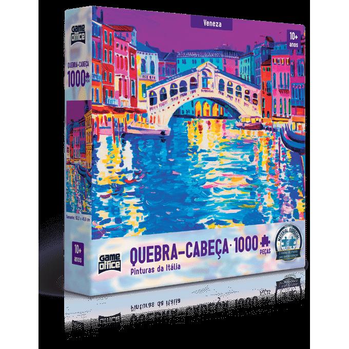 Quebra-Cabeça 1000 Peças - Pinturas da Itália - Veneza - Toyster - TOYSTER