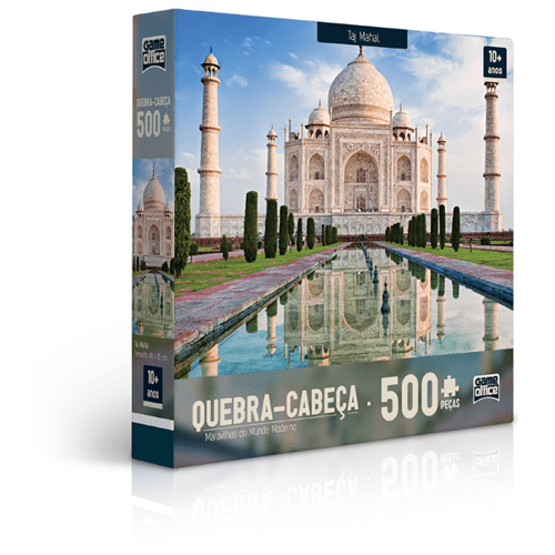Quebra-Cabeça 500 Peças - Maravilhas do Mundo Moderno - Taj Mahal - TOYSTER
