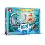 Quebra-Cabeça Animais Fundo do Mar 30 Peças - Estrela