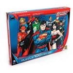 Quebra Cabeça com 100 Peças - Justice League - Grow