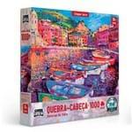 Quebra-Cabeça Pinturas da Itália Cinque Terre 1000 Peças Toyster