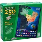 Quebra-Cabeça - Puzzle C/ 250 Peças Mapa do Brasil - Grow