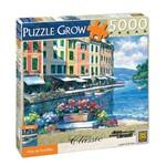 Quebra Cabeça Vista de Portofino 5000 Peças Ref 02599 Grow