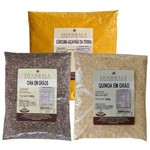 Quinoa Real Chia em Grãos e Cúrcuma Açafrão da Terra Kit Especial