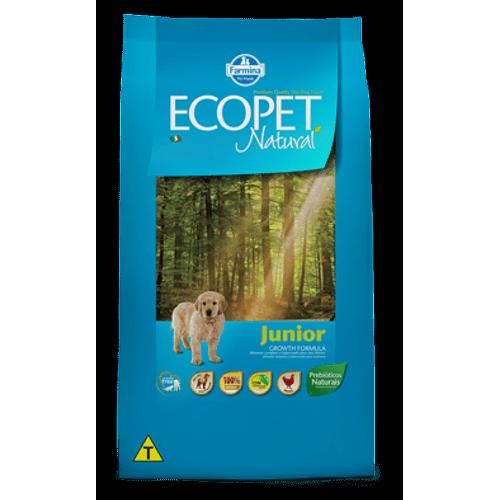 Ração Farmina Ecopet Natural Junior para Cães Filhotes 15Kg