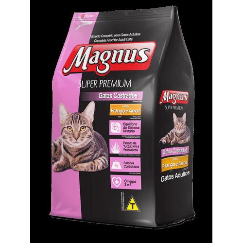 Ração Magnus Frango e Arroz para Gatos Castrados 1kg